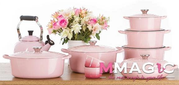 Le Creuset Gourmet Professional Pot Cast Chiffon Pink 26cm